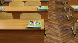empty classroom Stock Video Footage