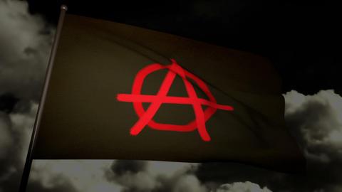 Anarchist flag 02 Stock Video Footage