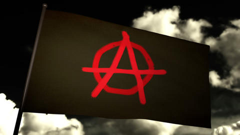 Anarchist flag 02 Stock Video Footage
