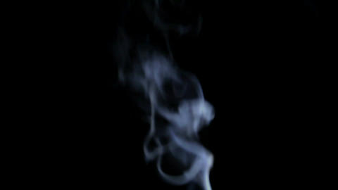 White Smoke on Black Background 1 Stock Video Footage