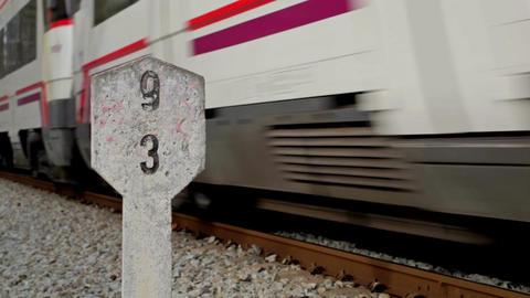 0044 NEW TRSPRT TRAIN BCN Stock Video Footage
