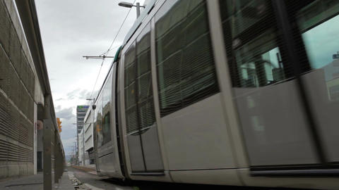 0054 NEW TRSPRT TRAM BCN Stock Video Footage