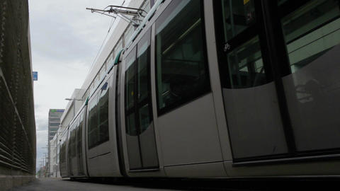 0056 TRSPRT TRAM BCN Stock Video Footage