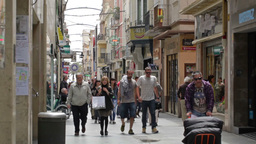 0060 CITY PEOPLE EDIT BCN Stock Video Footage
