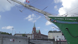 00188 City Ship HAM Stock Video Footage
