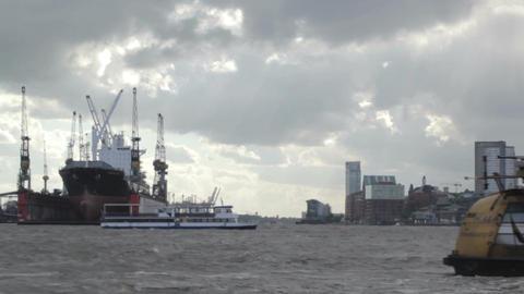 00193 TMLPS Ship HAM Stock Video Footage