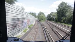 00199 TMLPS Train HAM Stock Video Footage