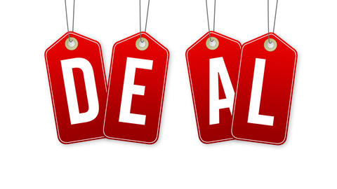 Deal Tags Stock Video Footage