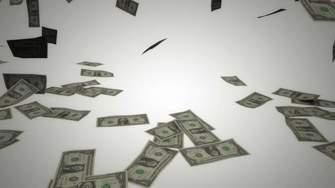 Dollar bills rain 04 Stock Video Footage