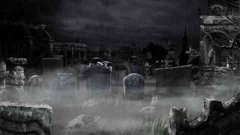 Scary Cemetery ! Stock Video Footage