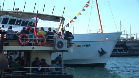 Bosphorus ship c Stock Video Footage
