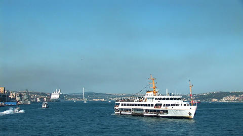Bosphorus ships a Stock Video Footage