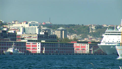 Bosphorus ships c Stock Video Footage