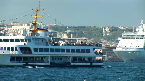 Bosphorus ships c Footage