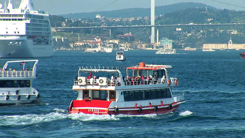 Bosphorus trafic b Stock Video Footage