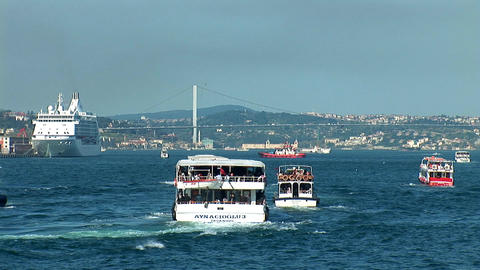 Bosphorus trafic Footage