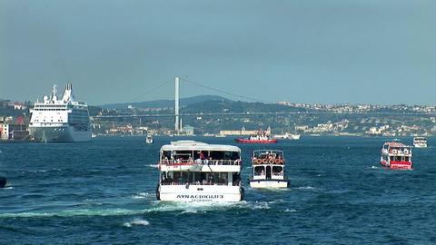 Bosphorus trafic Footage