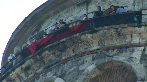 Galata Tower in Istanbul -b Stock Video Footage