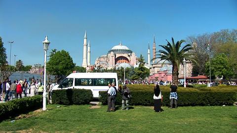 Aya Sofya (Hagia Sophia) a Stock Video Footage