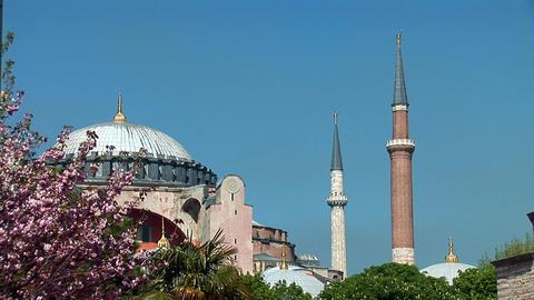 Aya Sofya (Hagia Sophia) c Stock Video Footage