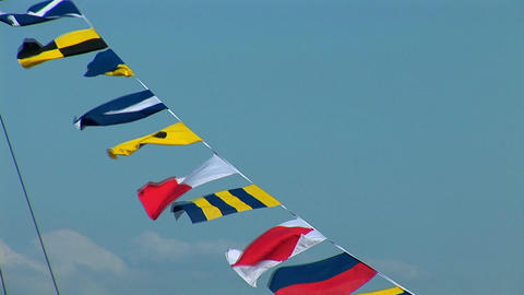 marine signal flags Stock Video Footage