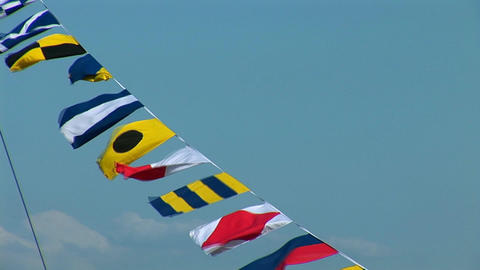 marine signal flags Stock Video Footage