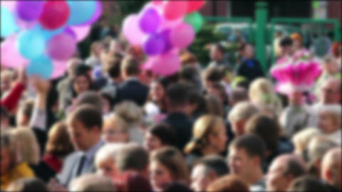 crowd of people Stock Video Footage