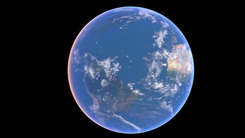 Earth sunrise 01 Stock Video Footage