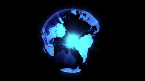 Earth turn around 06 Stock Video Footage