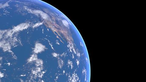 Earth turn around 02 Stock Video Footage