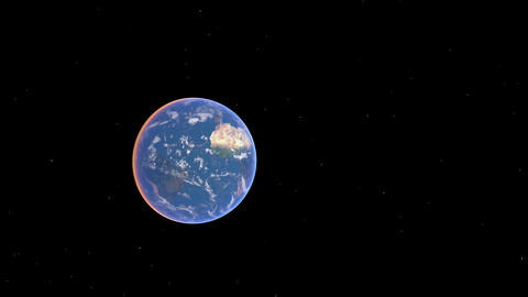 Earth zoom America 01 Stock Video Footage