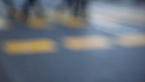 People walk on the street Stock Video Footage