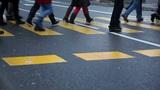 People walk on the street Footage