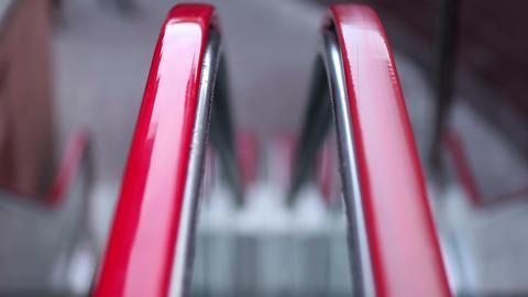 Escalators' handrail Stock Video Footage