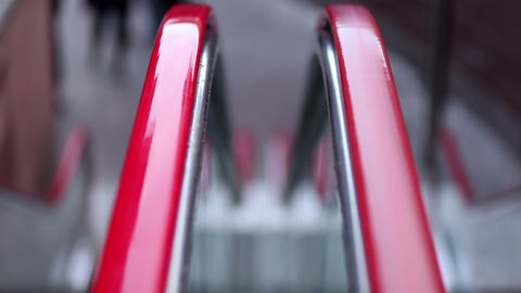 Escalators' handrail Stock Video Footage