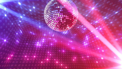 Mirror Ball 2 x 1 LB 16 HD Stock Video Footage