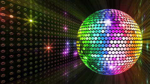 Mirror Ball 2 x 1 LB 26 HD Stock Video Footage