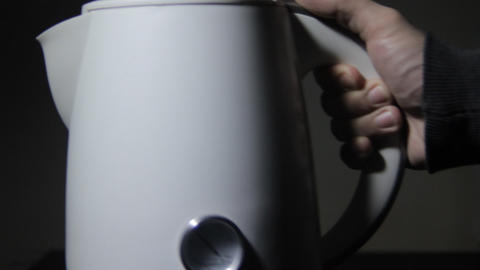 electric kettle clip Stock Video Footage