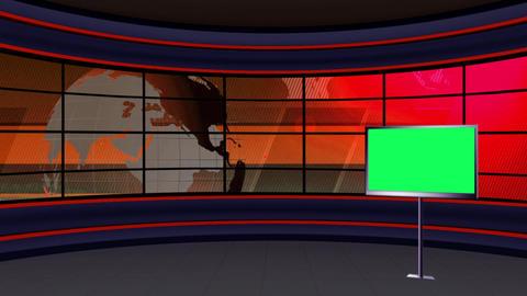 News TV Studio Set 99 - Virtual Background Loop Live Action
