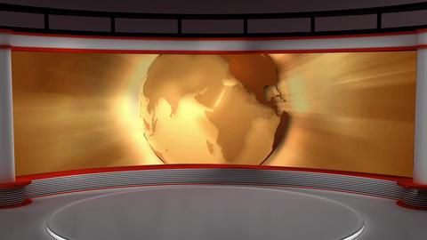 News TV Studio Set 102 - Virtual Background Loop Live Action