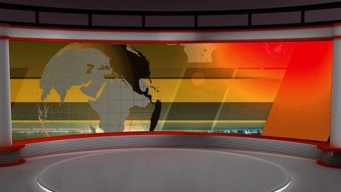 News TV Studio Set 104 - Virtual Background Loop ライブ動画