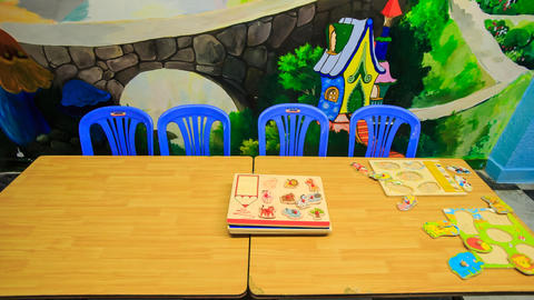 Children's Books Disappear off Table in Kindergarten Live Action