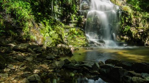 Beautiful waterfall in Cabreia Portugal Footage