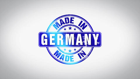 Made in Germany Word 3D Animated Wooden Stamp Animation Animation