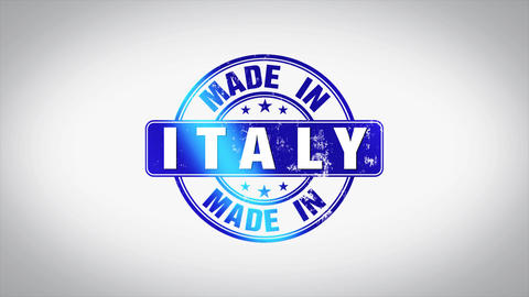 Made in Italy Word 3D Animated Wooden Stamp Animation Animation