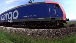 Cargo train passing Filmmaterial