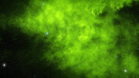 Green Morphing Outer Space Cloud Nebula Environment Background Animation