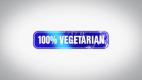 100% Vegetarian Word 3D Animated Wooden Stamp Animation Animation