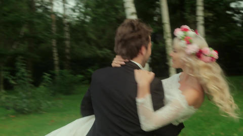 Attractive married couple - slow motion Footage
