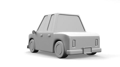 Car On White Background Animation